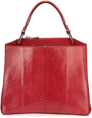 VBH Seven 34 Python Scarlet Tote Bag
