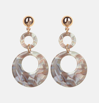 Avenue Grey Swirl Acetate Earrings
