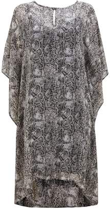 WallisWallis Grey Printed Embellished Kaftan Dress