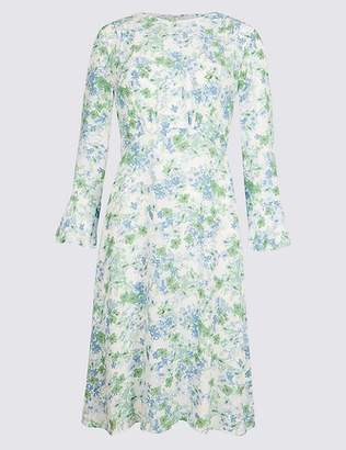 Marks and Spencer Floral Print Long Sleeve Tea Dress