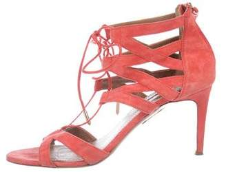 Aquazzura Suede Beverly Hills 75 Sandals
