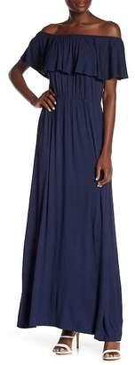 Socialite Off-the-Shoulder Maxi Dress