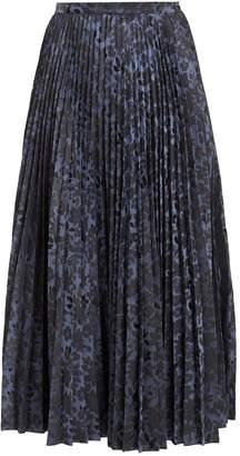 Erdem Nesrine pleated floral-jacquard midi skirt