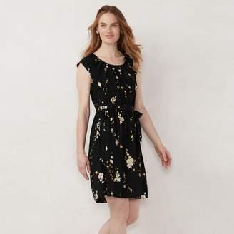 Lauren Conrad Popsugar Women's Pleat Neck Dress