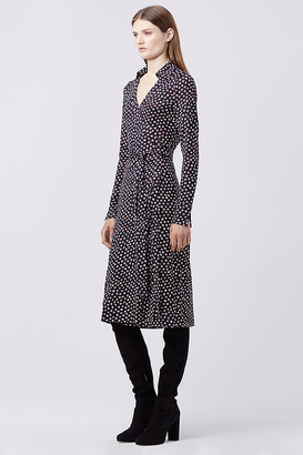 Cybil Silk Jersey Midi Wrap Dress $468 thestylecure.com