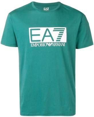Emporio Armani Ea7 graphic logo print T-shirt