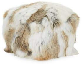 Adrienne Landau Textured Rabbit Fur Beanie