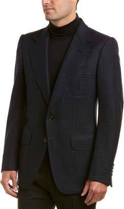 Tom Ford Suede-Trim Wool-Blend Blazer