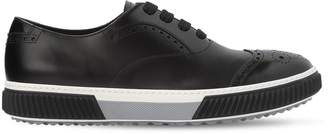 Prada Stratus Brushed Leather Oxford Shoes