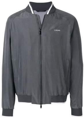 Ermenegildo Zegna logo bomber jacket