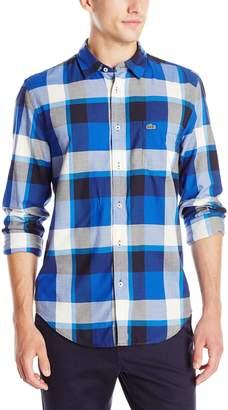 Lacoste Men's Seg 1 Long Sleeve Bold Plaid