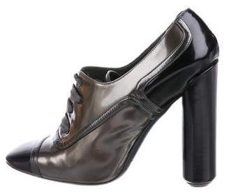 Marc Jacobs Metallic Leather Lace-Up Booties