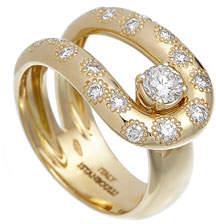 anima ISTANBOULLI GIOIELLI 18k Diamond Loop Ring, Size 6