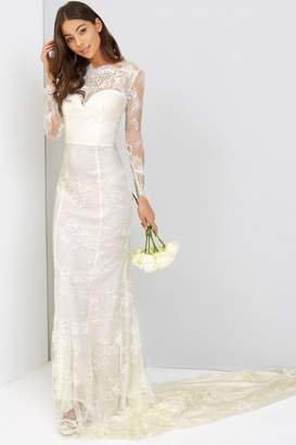 Little Mistress Jenna Scallop Lace Wedding Dress