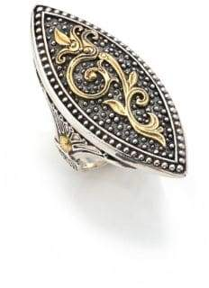 Konstantino Hebe 18K Yellow Gold& Sterling Silver Marquise Ring
