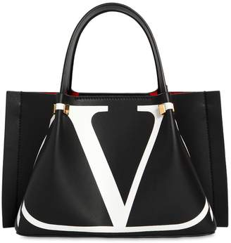 Valentino Small Logo Escape Leather Tote Bag