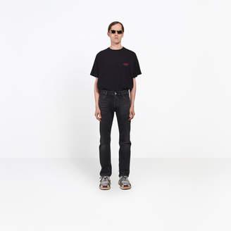 Balenciaga Straight fitted natural denim pants