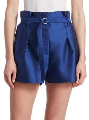 3.1 Phillip Lim Satin Paper Bag Shorts