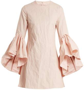 Marques Almeida MARQUES'ALMEIDA Asymmetric ruffled-sleeve twill dress