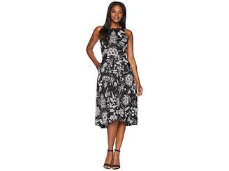 Tahari ASL Sleeveless Printed Midi Fit and Flare Dress Women's Dress