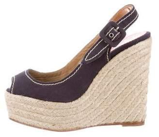 Christian Louboutin Espadrille Platform Wedge Sandals