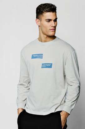 boohoo MAN Collection Spliced Box Oversized T-Shirt