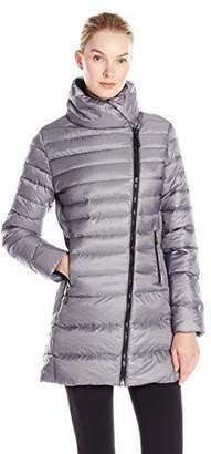 Champion Women's Performance Nylon Asymmetric-Zip Jacket with Synthetic Down $58.81 thestylecure.com