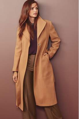 Next Womens Camel Belted Coat
