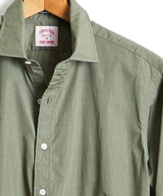 Hamilton Made in the USA + Todd Snyder End on End Dress Shirt in Olive