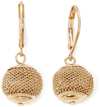 Monet Jewelry Gold Tone Mesh Ball Drop Earrings