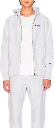 Champion Reverse Weave Hooded Sweatshirt in Heather Grey | FWRD