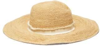 Heidi Klein Cape Elizabeth Raffia Wide Brim Hat - Womens - Beige