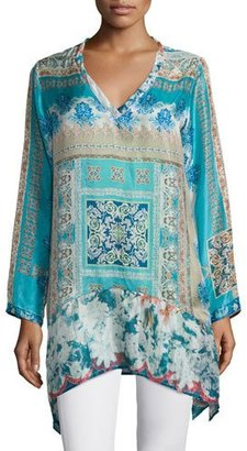 Johnny Was Chapman Long-Sleeve Printed Tunic $220 thestylecure.com
