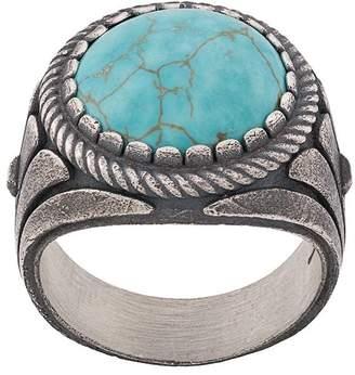 Nove25 Ionic howlite signet ring