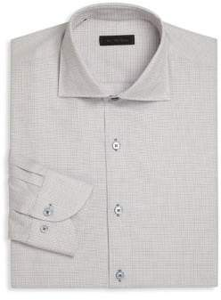 Saks Fifth Avenue COLLECTION Basket Design Dress Shirt