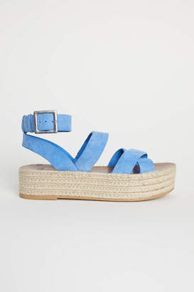 H&M Platform Sandals - Blue - Women
