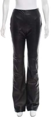 Richard Tyler Leather High-Rise Pants