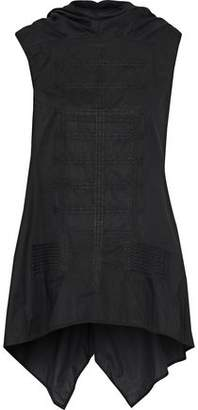 Rick Owens Draped Embroidered Cotton-Poplin Top