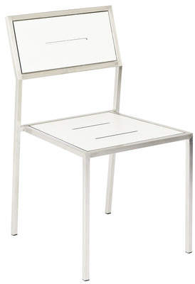 White Marine Steel Frame Dining Chair