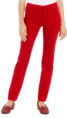 Charter Club Velveteen Tummy-Control Ankle Straight Jeans