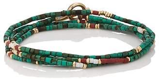 M. Cohen Men's Afghan Bead Wrap Bracelet