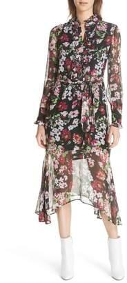 Equipment Palo Floral Print Silk Dress