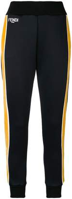 Fendi side striped trousers