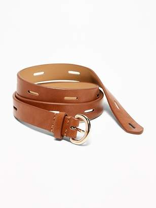 Old Navy Skinny Perforated Faux-Leather Belt for Women
