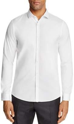 Michael Kors Stretch Cotton Slim Fit Button-Down Shirt