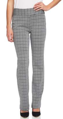 CeCe Glen Plaid Jacquard Mini Bootcut Pants
