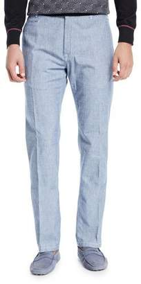 Stefano Ricci Men's Light-Wash Cotton Jeans