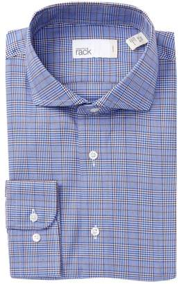 Nordstrom Rack Plaid Trim Fit Dress Shirt