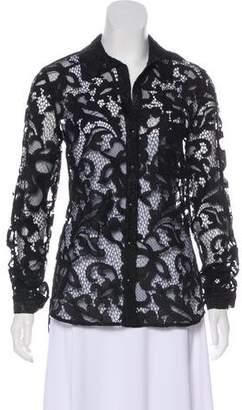Diane von Furstenberg Lace Button-Up Shirt
