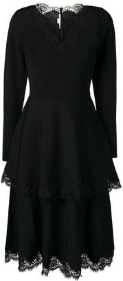 Stella McCartney tiered lace detail dress